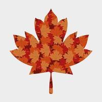 conception de vecteur de feuille d'érable automne