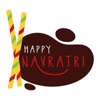 joyeuse fête navratri avec style plat de baguettes