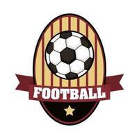 icône de tournoi de football avec ballon