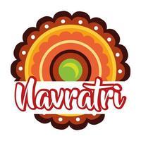 joyeuse fête de navratri avec style plat en dentelle décorative