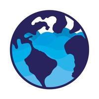 planète terre avec de l'eau