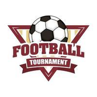 icône de tournoi de football avec bouclier