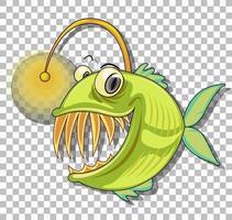 personnage de dessin animé de baudroie vecteur