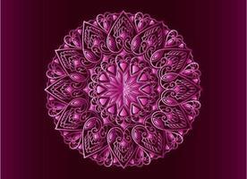 conception de mandala arabesque ornementale, florale et abstraite rose