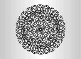 conception de mandala arabesque ornementale, florale et abstraite noire vecteur