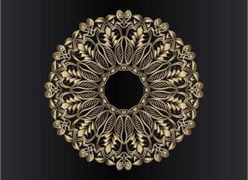 conception de mandala arabesque ornementale, florale et abstraite en or rose vecteur