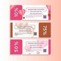 promo de coupon marketing valentine vecteur