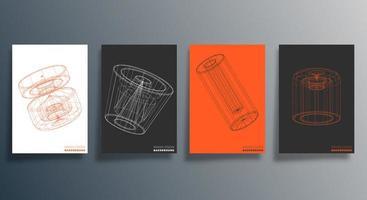 conception géométrique minimale pour flyer, affiche, couverture de brochure, arrière-plan, papier peint, typographie ou autres produits d'impression. illustration vectorielle vecteur