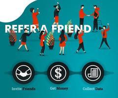 serrer la main pour obtenir des bénéfices et des réalisations, pour les affaires financières, le marketing, la promotion, la publicité, la croissance. peut utiliser pour, page de destination, modèle, interface utilisateur, web, affiche, bannière vecteur