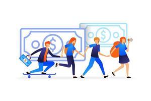 les gens se tenant la main. les travailleurs renforcent les relations pour un travail d'équipe solide. les gens se soutiennent et s'entraident pour le concept d'illustration vectorielle, page de destination, web, interface utilisateur, bannière, flyer, affiche, modèle vecteur