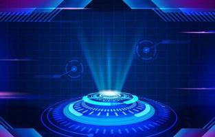 fond futuriste de haute technologie vecteur