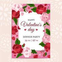 invitation à un dîner rose vecteur
