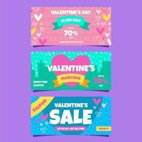 coupon de vente de la Saint-Valentin