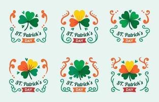 st. colections de badges patrick's day vecteur