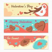 chocolat sucré de la saint-valentin vecteur
