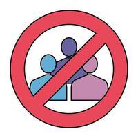 éviter les foules signal icône isolé