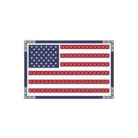 conception de drapeau américain vecteur