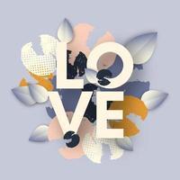 fond d'amour avec des fleurs vecteur