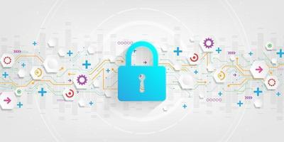 fond de système de sécurité numérique sécurisé