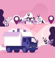 concept d'expédition et de livraison de fret dans le monde entier