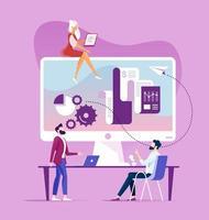 concept de stratégie commerciale marketing entreprise vecteur