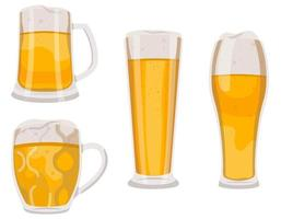 ensemble de verres à bière et tasses.
