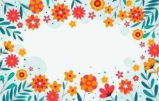fond décoratif fleur vecteur