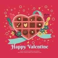 une boîte de chocolat pour la saint valentin