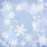 fond de flocons de neige heureux vecteur