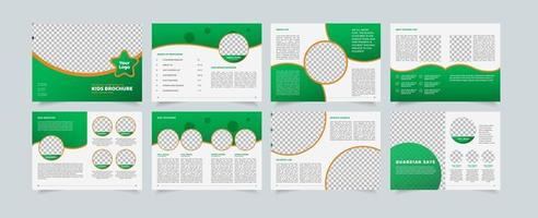 modèle de création de proposition d'entreprise, conception de brochure polyvalente, conception géométrique propsal d'entreprise, format A4 vertical vecteur