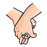 couple main dans la main vecteur