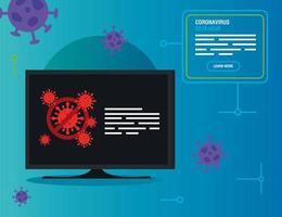 campagne d'arrêt 2019 ncov en informatique vecteur