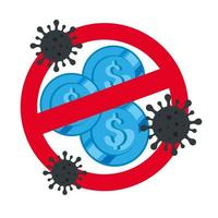 monnaies interdites avec particules covid 19