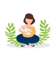 mère tenant un bébé nouveau-né