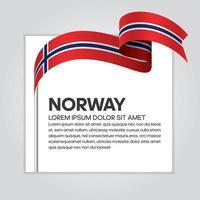 ruban de drapeau norvège vague abstraite