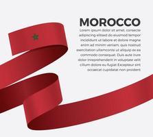 ruban de drapeau maroc vague abstraite vecteur
