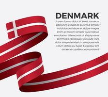 ruban de drapeau de vague abstraite du Danemark