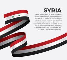 ruban de drapeau vague abstraite syrie