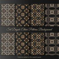 définir fond ethnique dayak. motif de batik indonésien. vecteur