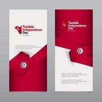joyeux jour de l'indépendance tunisie célébration vecteur modèle illustration de conception