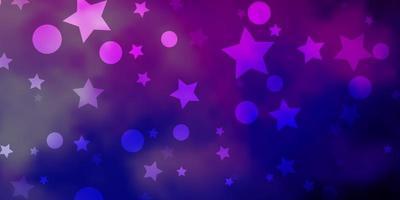 fond de vecteur rose clair, bleu avec des cercles, des étoiles.