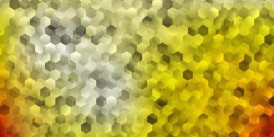 couverture de vecteur orange clair avec des hexagones simples.