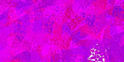 modèle vectoriel rose clair, bleu avec des formes polygonales.