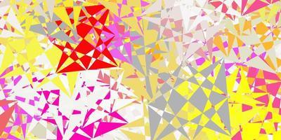 toile de fond de vecteur gris clair avec des triangles, des lignes.