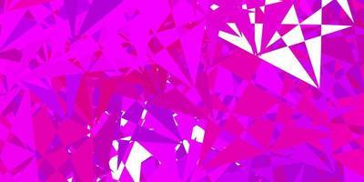 modèle vectoriel violet clair avec des formes triangulaires.