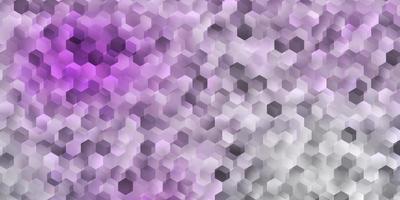 couverture de vecteur violet clair avec des hexagones simples.