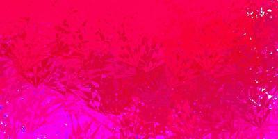 toile de fond de vecteur rose foncé avec des triangles, des lignes.