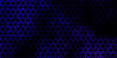 mise en page de vecteur violet foncé avec des lignes, des triangles.