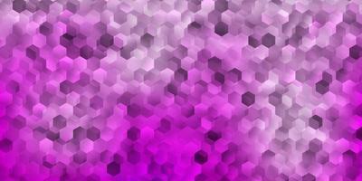 couverture de vecteur rose clair avec des hexagones simples.