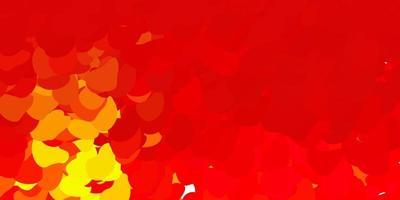 toile de fond de vecteur vert foncé, rouge avec des formes chaotiques.
